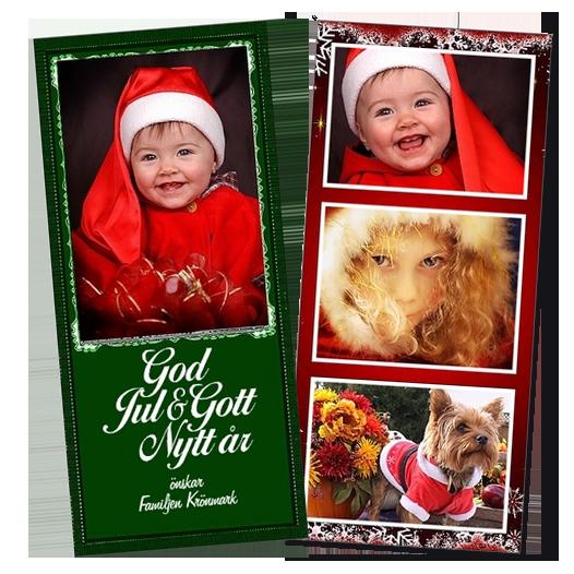 Exempel på julkort