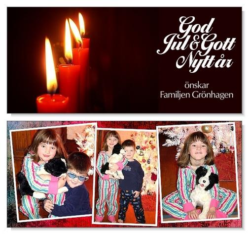 Julkort liggande 2-sidigt